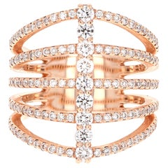 1.23 Carat Round Cut Diamond Ring 14 Karat Rose Gold
