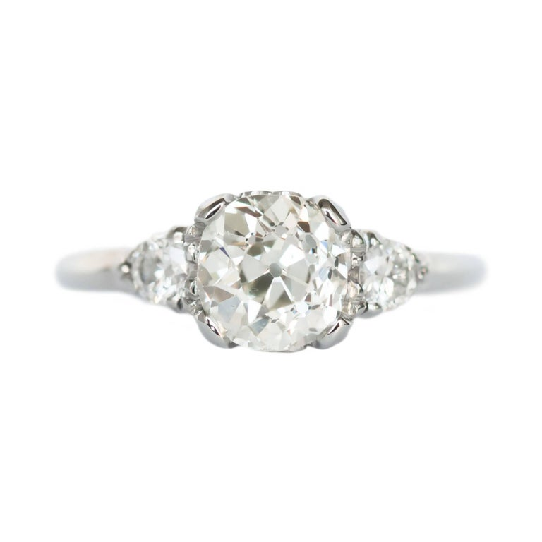 1 23 Carat White Gold Diamond Engagement Ring For Sale At 1stdibs