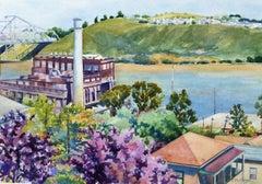 Sugar Town Catherine McCargar Watercolor painting on paper