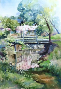 Jasmine Reflections Catherine McCargar Watercolor painting on paper