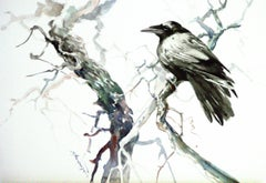 Raven in the Woods