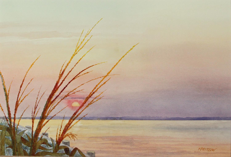 Sunset at 32nd Street, Original Painting