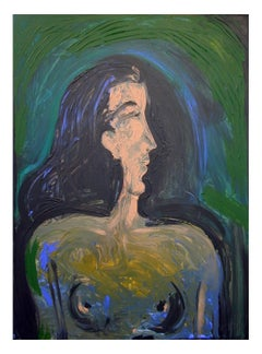 grecian profile, Painting, Acrylic on Canvas