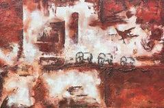 Botswana Life, Painting, Acrylic on Canvas