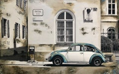 Volkswagen, Mixed Media on Canvas