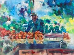 Farmer's Market, Painting, Acrylic on Canvas