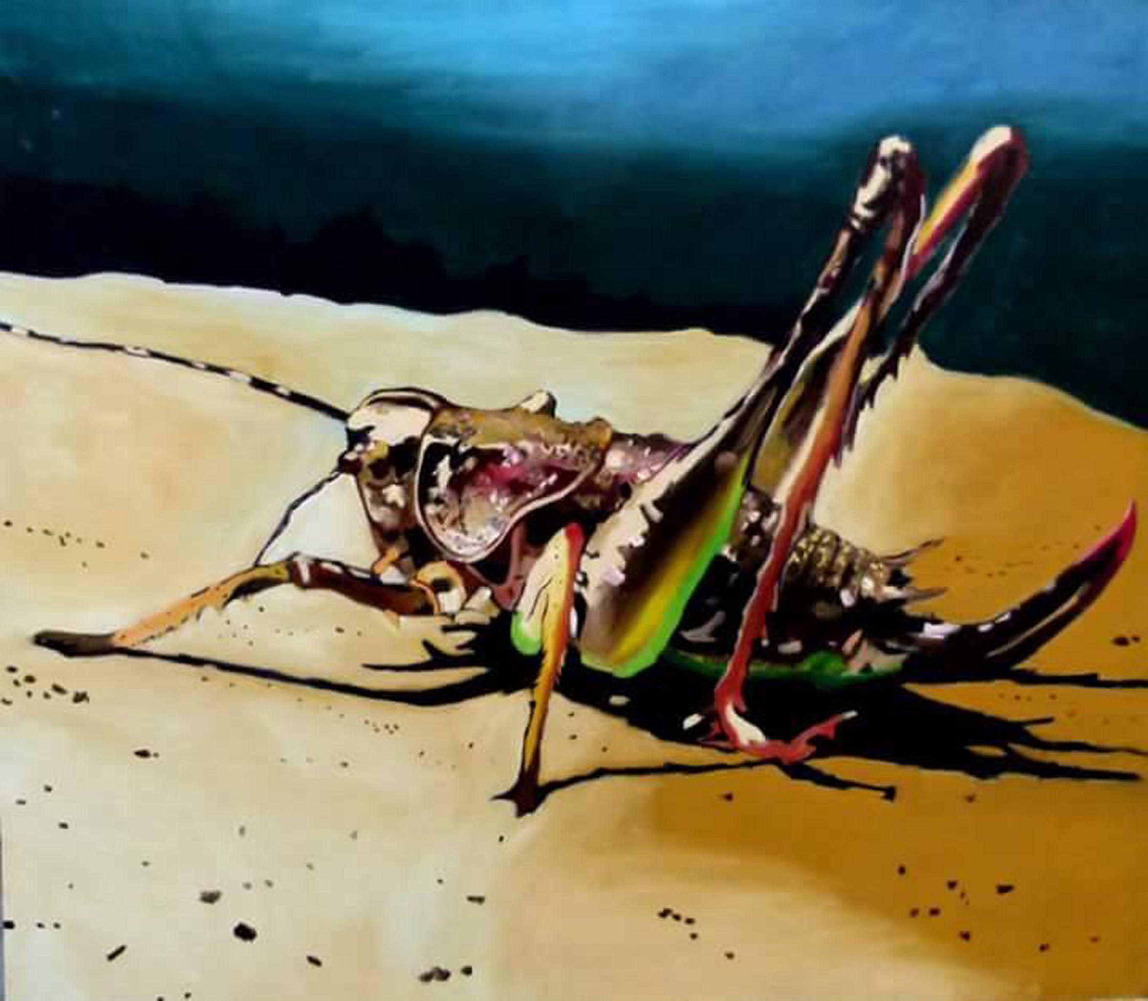 Locust, Painting, Oil on Canvas