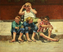 Parade People, Painting, Oil on Canvas