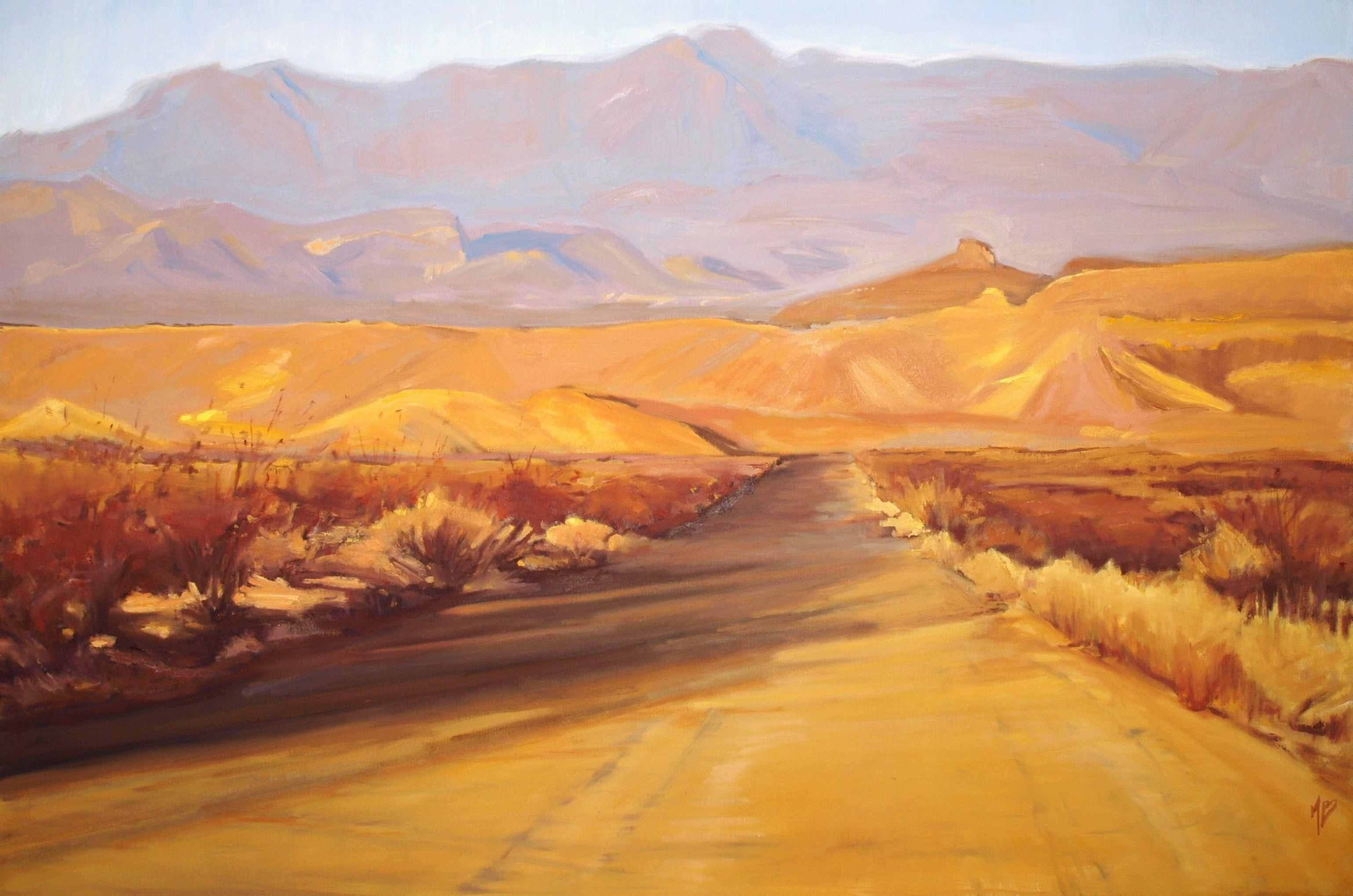 Big Bend Sunset, Painting, Oil on Canvas