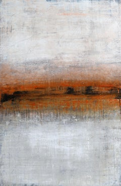 """1243 red gold horizon"", Painting, Acrylic on Canvas"
