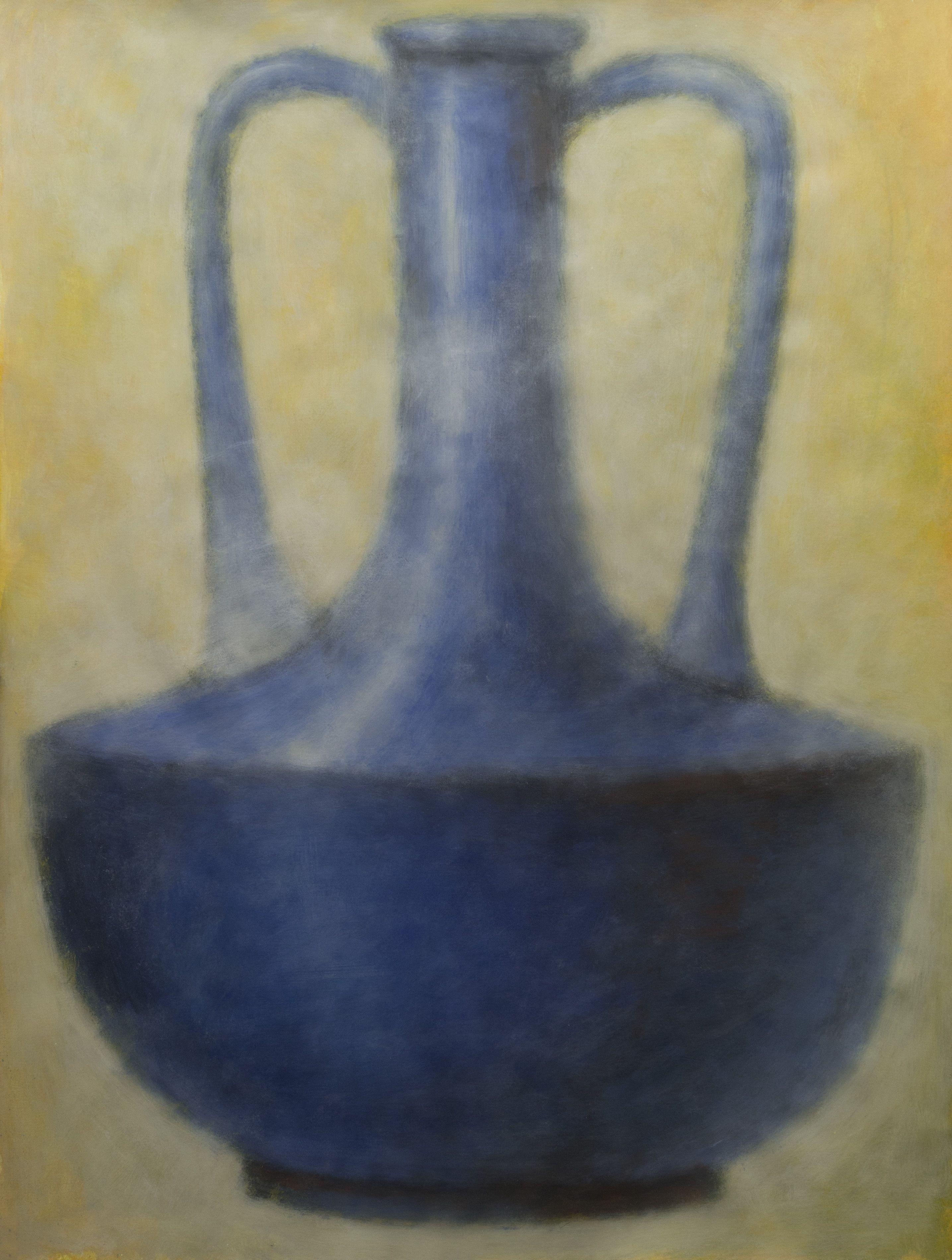 Blue Amphora 1, Mixed Media on Paper