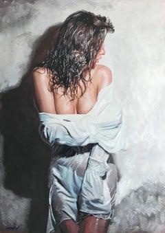 Divine Beauty, Painting, Gouache on Canvas