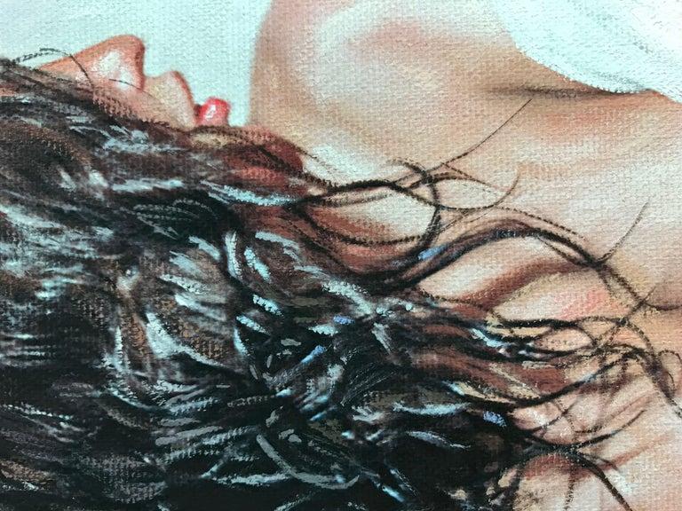 Divine Beauty, Painting, Gouache on Canvas For Sale 1