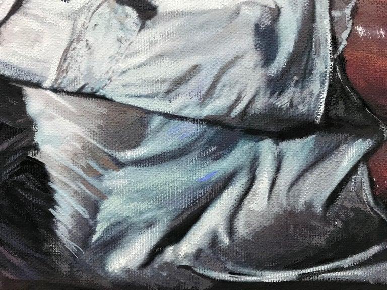 Divine Beauty, Painting, Gouache on Canvas For Sale 2