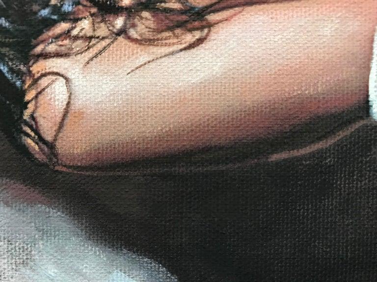 Divine Beauty, Painting, Gouache on Canvas For Sale 3