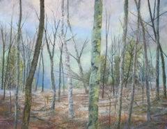 Woodland Waltz, Drawing, Pastels on Pastel Sandpaper