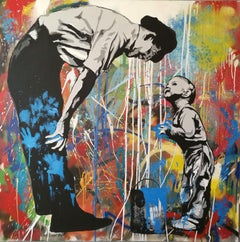 Father and son, Mixed Media on Canvas