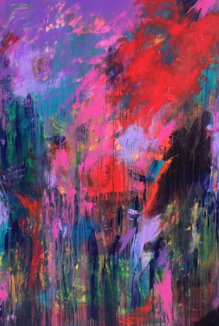 Darlene Watson Abstract Painting - Deep Dark and Delicious, Painting, Acrylic on Canvas