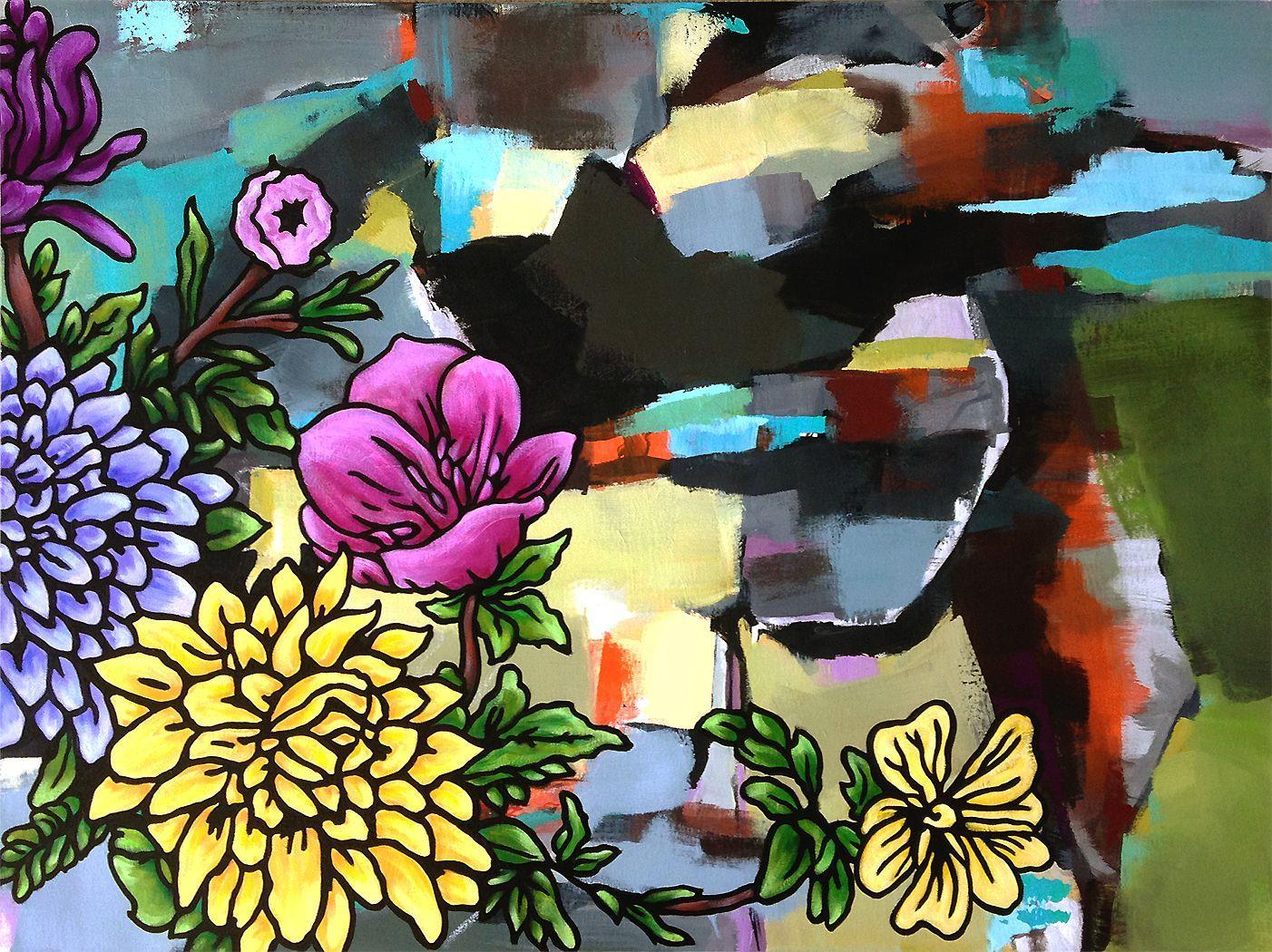 Desert Rose, Painting, Acrylic on Canvas