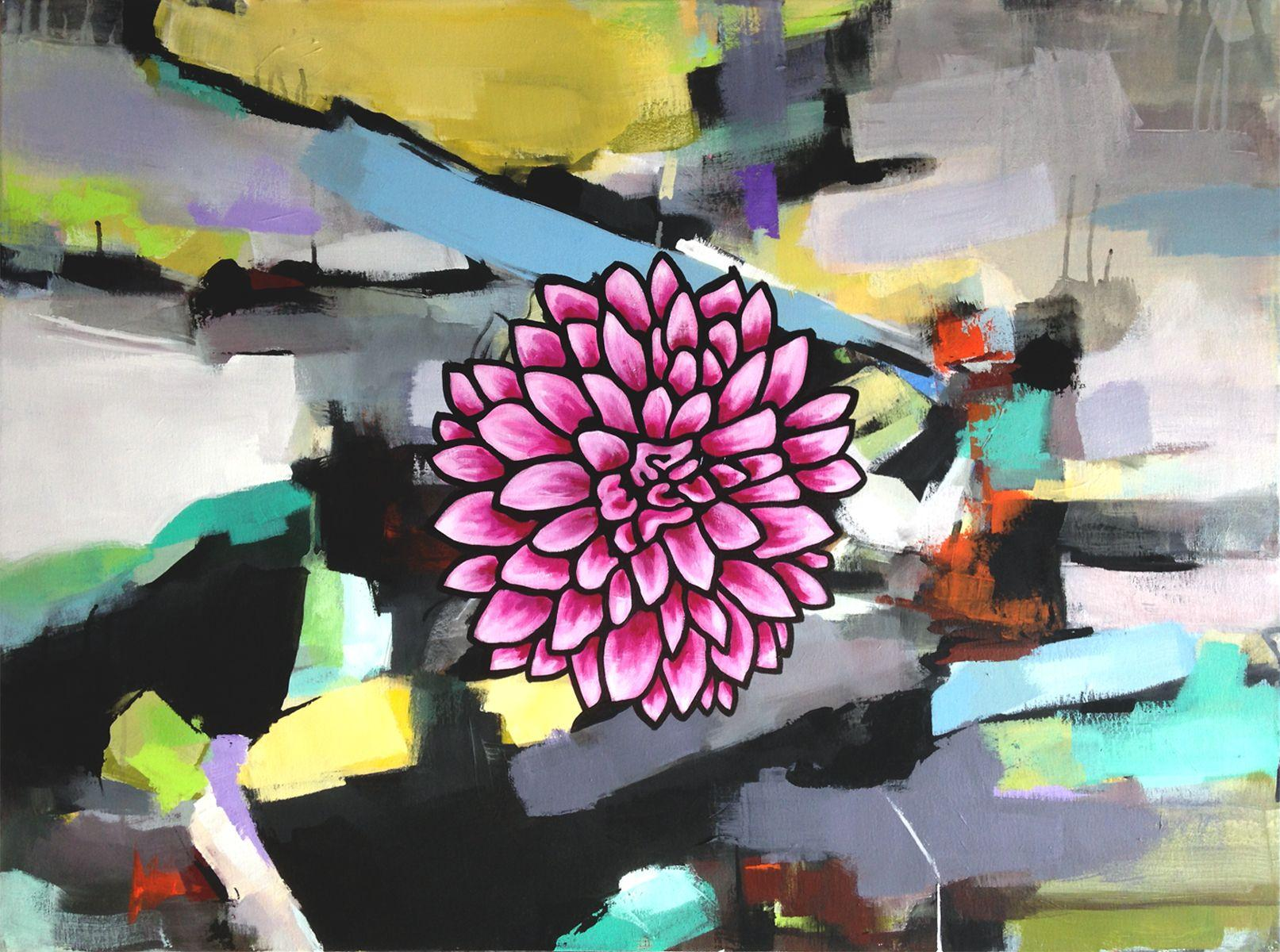 Night Bloom, Painting, Acrylic on Canvas