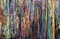 Nappy Dog, Painting, Acrylic on Wood Panel