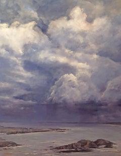 Cloudburst - St. Luce sur Mer, Painting, Oil on Canvas