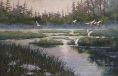 Mallards Landing, Painting, Acrylic on Canvas
