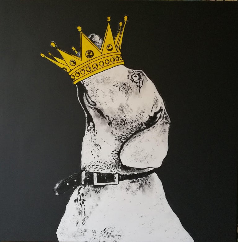 6c5db4d2bde1 Rinalds Vanadzins - Dog, Painting, Acrylic on Canvas For Sale at 1stdibs
