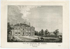 Estate Ferney - house of Voltaire by Masquelier - Engraving - 18th Century