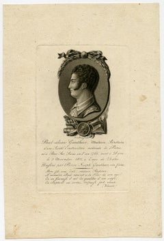 Portrait of Paul Alexis Gaulthier by Willem van Senus - Engraving - 19th Century
