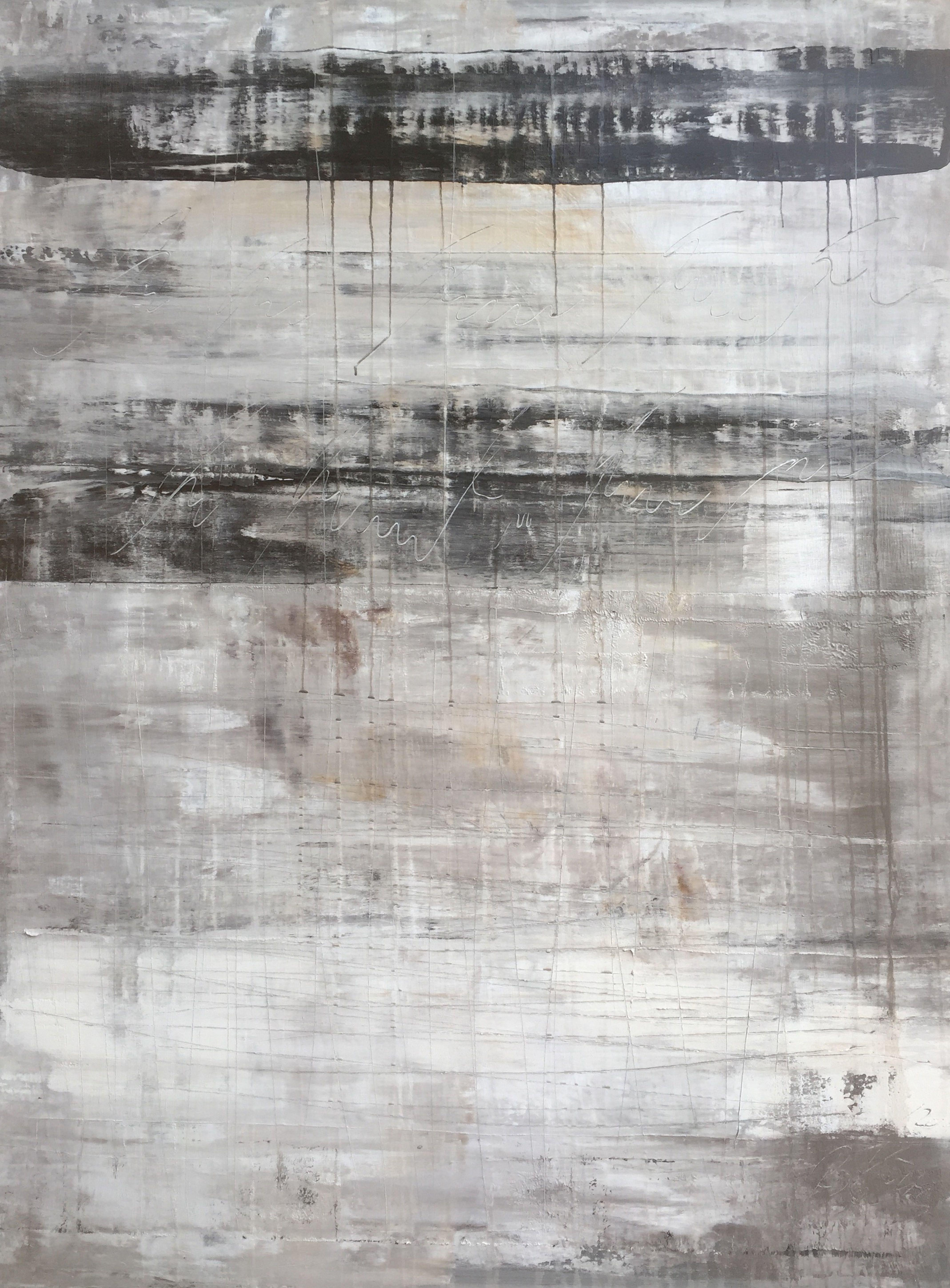 """""""1134 abstract antique black/white/grey"""", Painting, Acrylic on Canvas"""