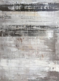 """1134 abstract antique black/white/grey"", Painting, Acrylic on Canvas"