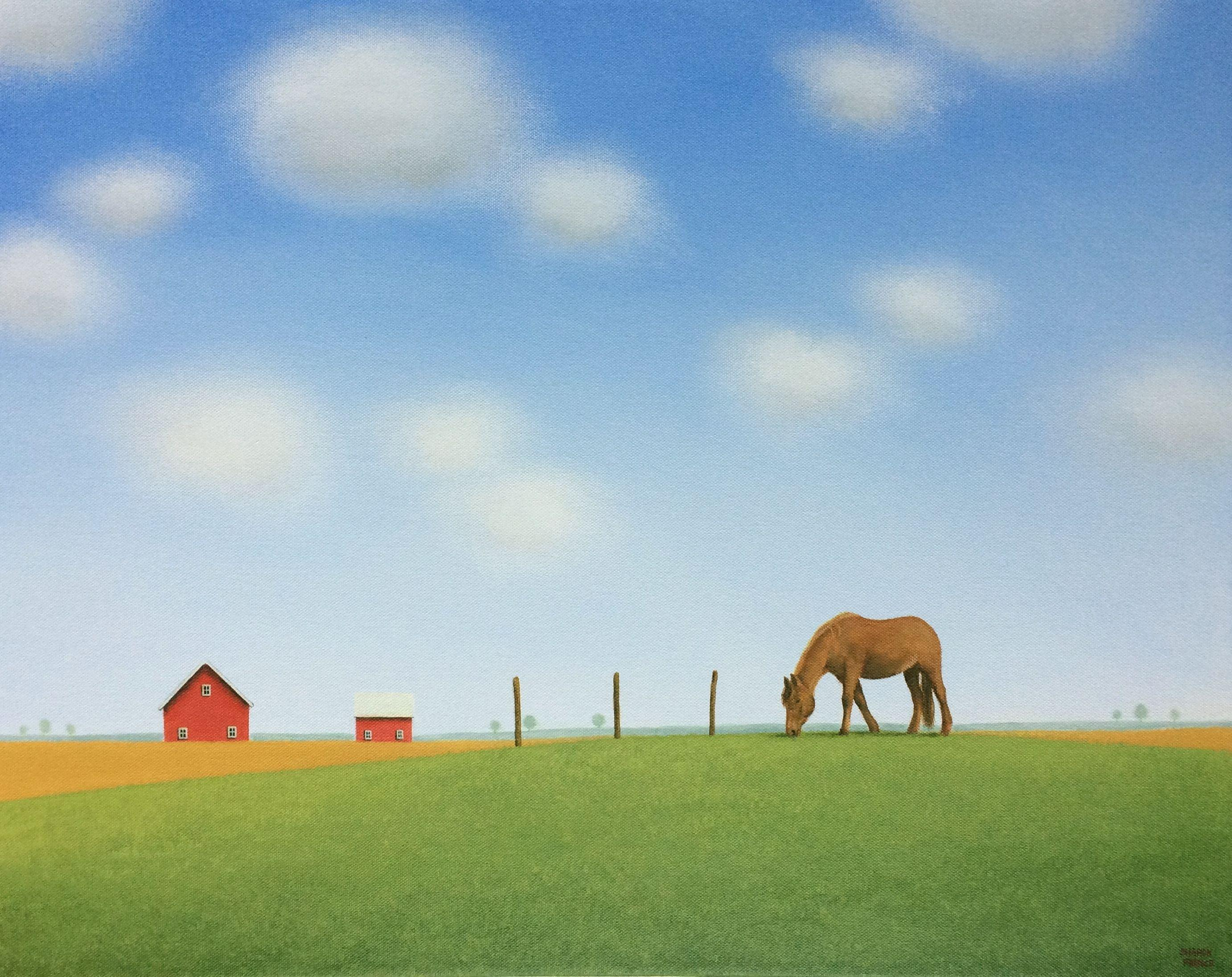 On a Peaceful Summers Day, Painting, Acrylic on Canvas