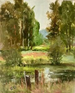 Egans Slough, Painting, Oil on MDF Panel