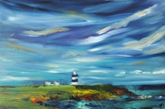 Early morning light at Hook Head Lighthouse, Painting, Oil on Canvas