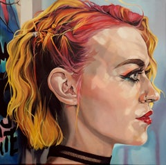 Bronach in full colour, Painting, Oil on Canvas