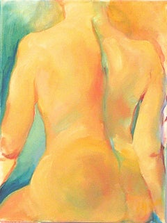 Golden Nude, Painting, Oil on Canvas