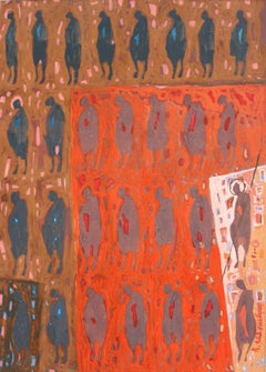Untitled - XXI Century, Gouache Painting, Abstract