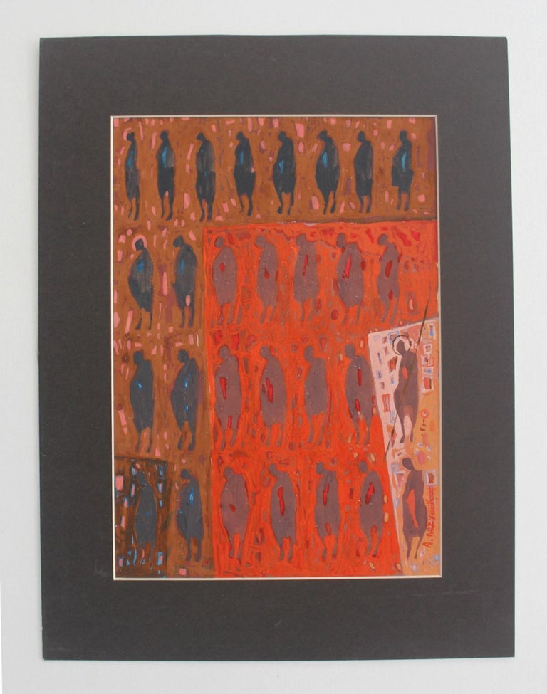 Untitled - XXI Century, Gouache Painting, Abstract - Art by Aleksander Grzybek