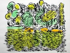 Lake - XXI century, Colourful, Landscape