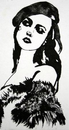 La Par Tisante - XXI Century, Etching, Fashion Print, Women