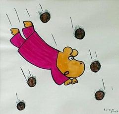 Gucio - XX century, Cartoon, Figurative colourful drawing