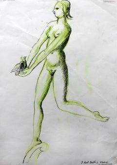 Nude - XX century, Figurative drawing, Nude