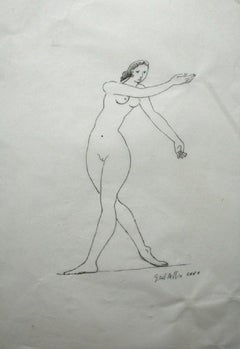 Nude - XXI century, Figurative drawing, Nude, Black and white