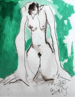 Nude - XXI century, Figurative watercolour nude