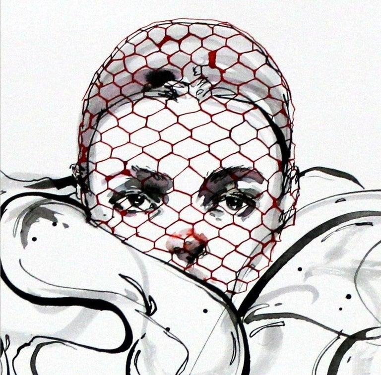 Giambattista Valli - XXI Century, Drawing, Fashion, Women - Art by Anna Halarewicz