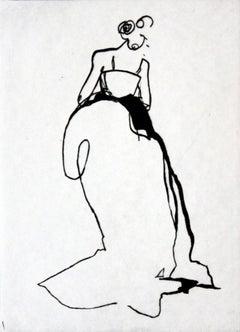 Ascetic - XXI Century, Etching, Fashion Print, Women