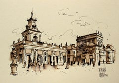 Warsaw - the Royal Palace in Wilanów - XXI century, Watercolour figurative