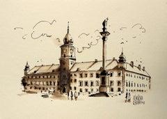 Warsaw - the Royal Castle - XXI century, Watercolour figurative, Architecture