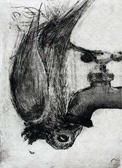 Bird II - XXI century, Black and white figurative print, Animals